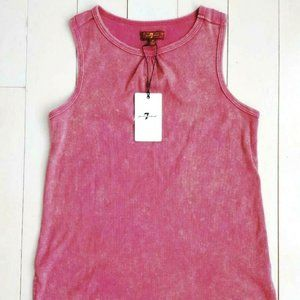7 FOR ALL MANKIND Girls Ribbedd Tank Top Washed